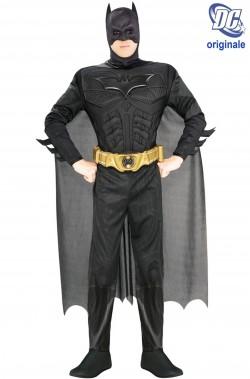 Costume Batman De Luxe Con Muscoli Nero