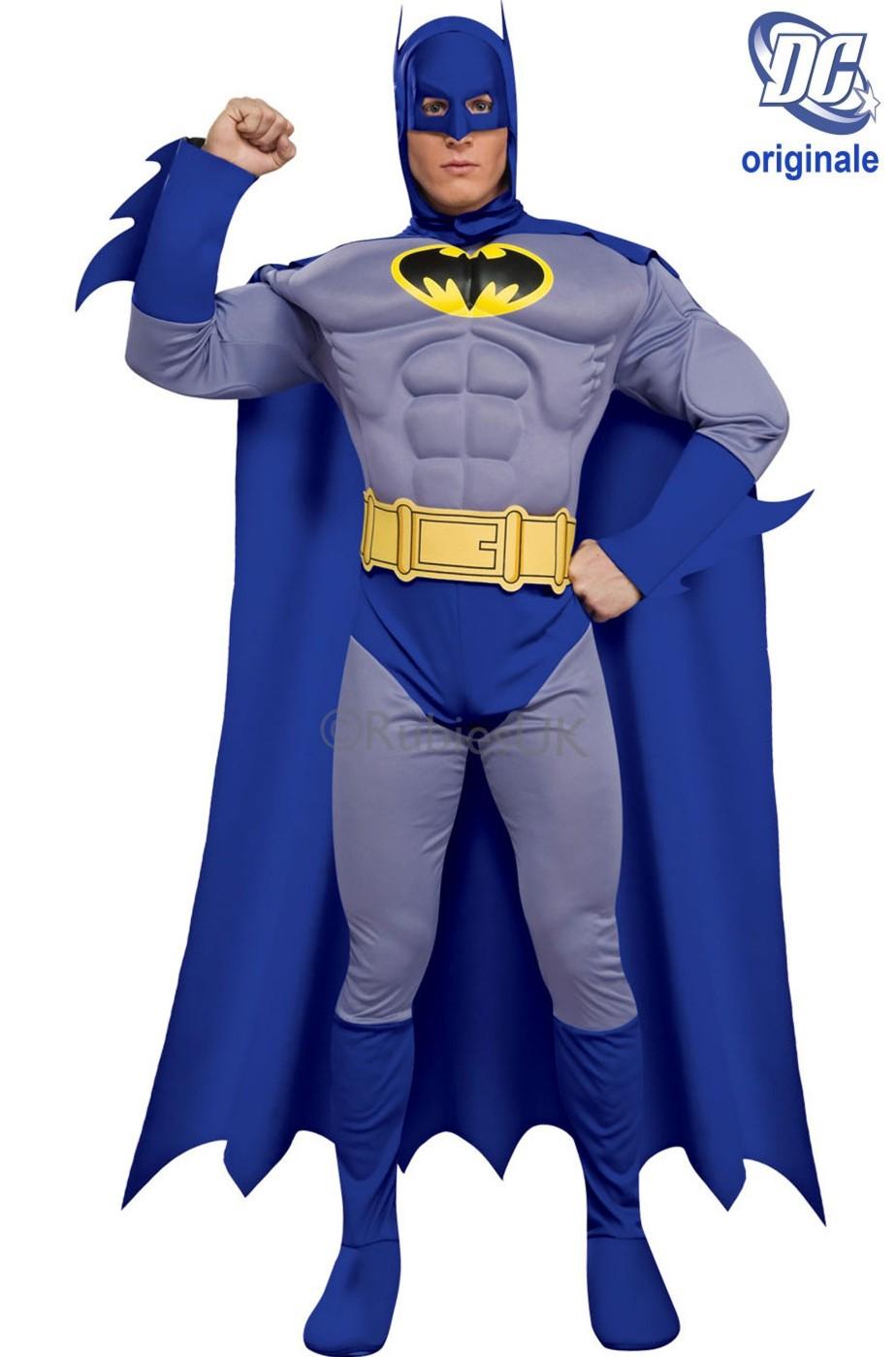 Costume batman muscolare grigio fumetto comics