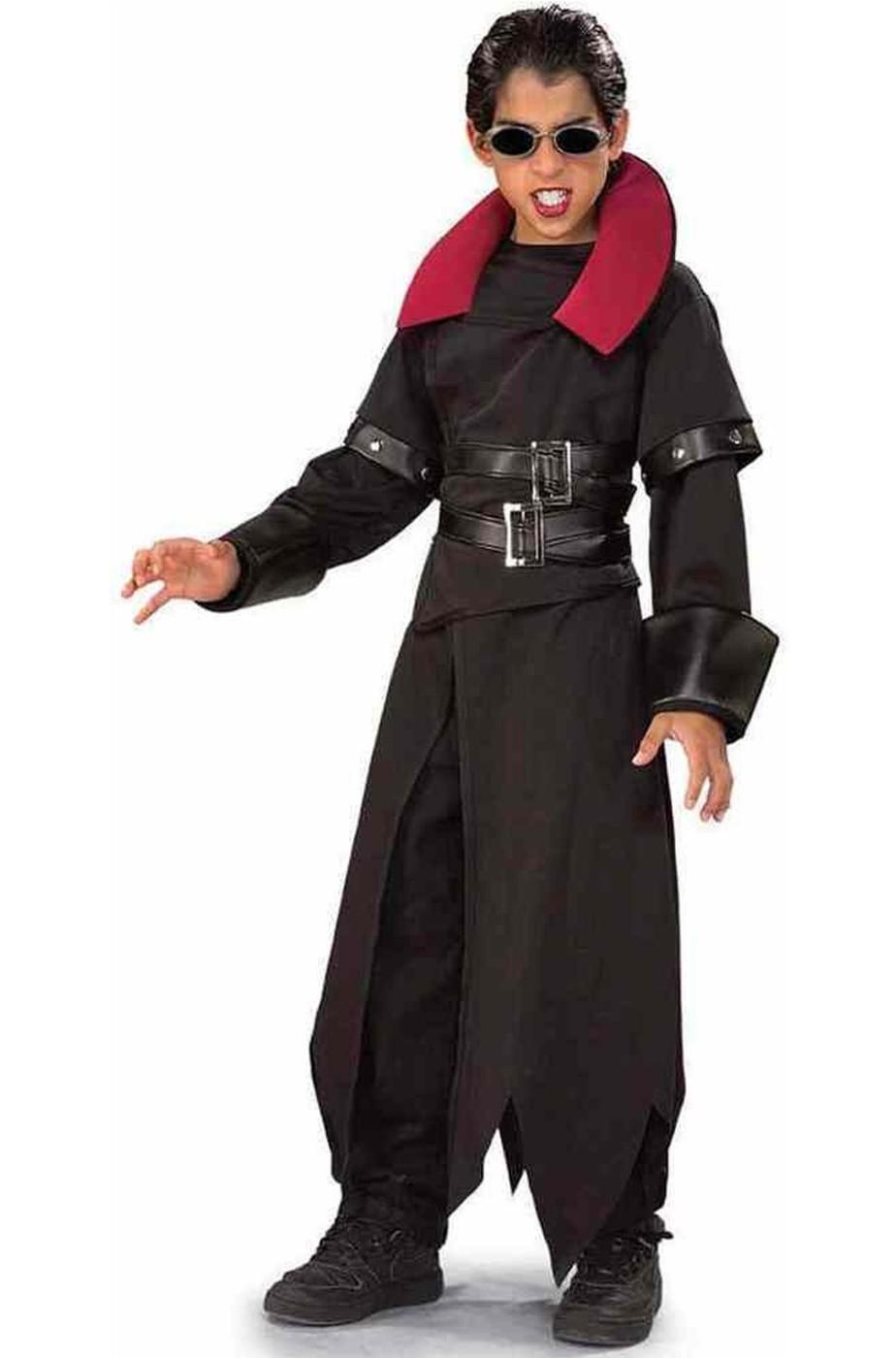 E Della Notte Vampiro Nero Bambino Da Cappotto Rosso Halloween Costume wWqfP6nXf