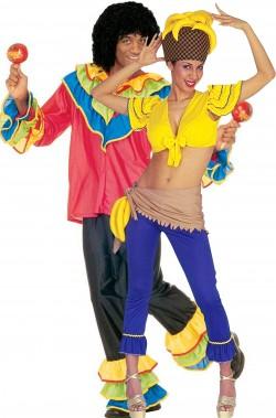 Coppia di costumi adulto Brasiliani Carnevale di Rio
