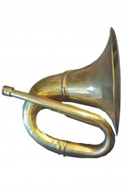 Corno o tromba da caccia in metallo come vera ma (non suona)