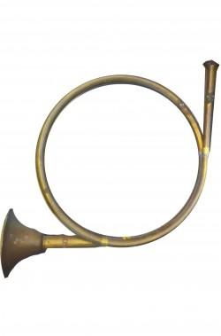 Corno da caccia in metallo come vera ma (non suona)