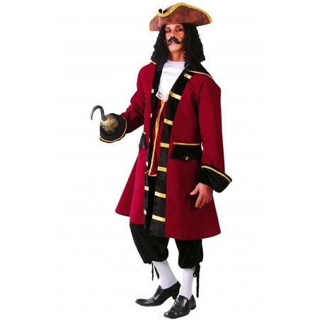 Costume da pirata adulto, capitano, cavaliere del 700, moschettiere