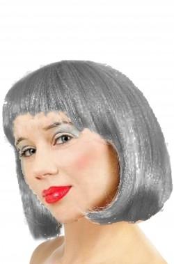 Parrucca donna grigia argento corta a caschetto
