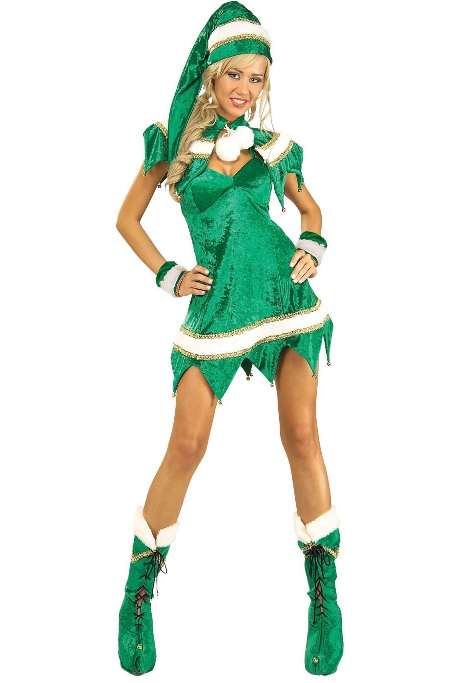 costume da elfa adulto sexy elasticizzato taglia sm 18c58863618a