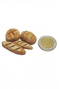 Accessori presepe panettiere: pane e panini realizzato a mano