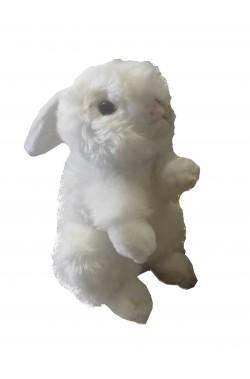 Coniglio bianco di peluche di circa 30 cm per Alice