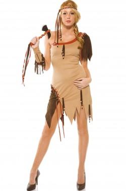 Costume donna sexy Indiana Pocahontas
