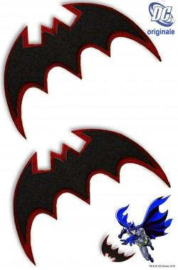 Batarangs Batman in plastica morbida larghezza 18 cm circa (coppia)