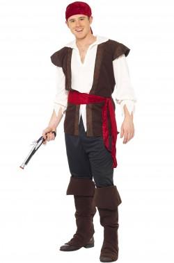 Costume uomo pirata o oste medievale