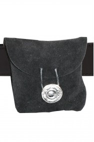 Borsa o Borsetta sacchetto a marsupio in camoscio medievale