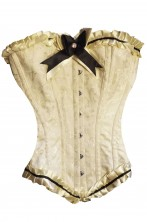 Corsetto color crema damascato con stecche alta qualita'