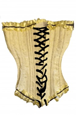 Corsetto color crema damascato con stecche alta qualita'