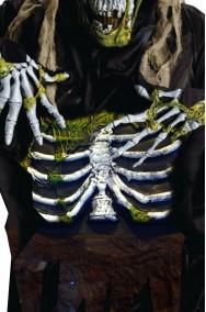 Addome da zombie halloween in eva con scheletro verde