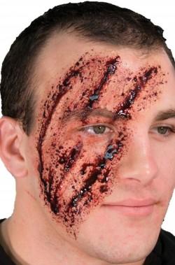 FX Trucco In Lattice ferite cicatrici graffi di artigli sul viso
