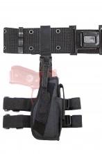 Cinturone militare con fodero cosciale destro porta pistola Beretta o Glock