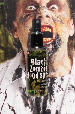 FX Sangue finto nero schizzo zombie