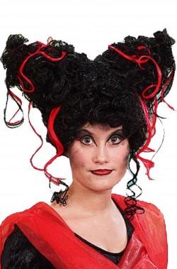 Parrucca nera vampira regina della notte