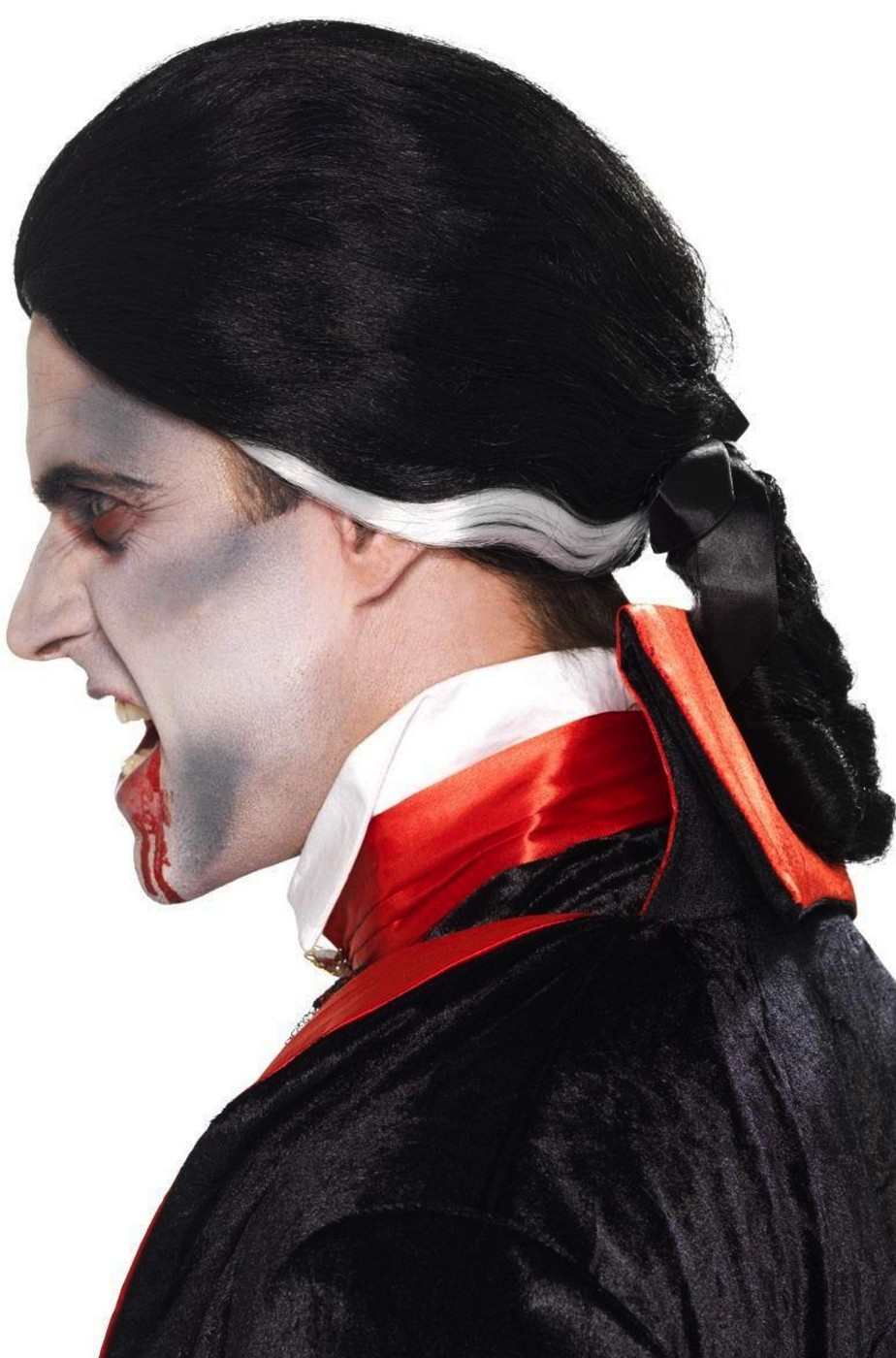 Parrucca uomo corta coloniale o vampiro