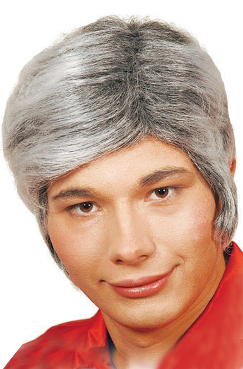 Parrucca uomo grigia corta
