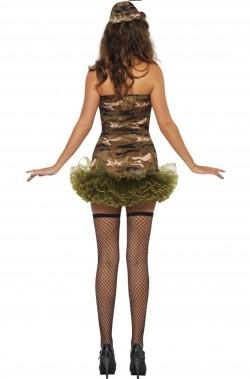 Costume Sexy Soldatessa Militare con tutu