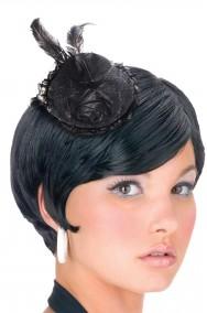 Mini cappello burlesque vittoriano 800 con clip nero