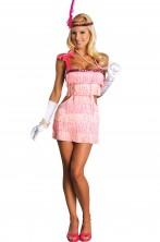 Costume donna sexy anni 20 Charleston Flapper Rosa