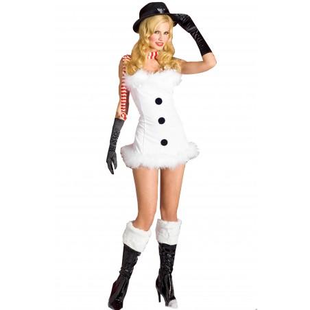 Costume Abito Sexy Pupazzo Di Neve