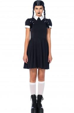 Vestito di Mercoledì Addams donna adulta