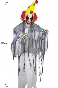 Allestimento decorazione Halloween Clown Horror da appendere alto 133cm