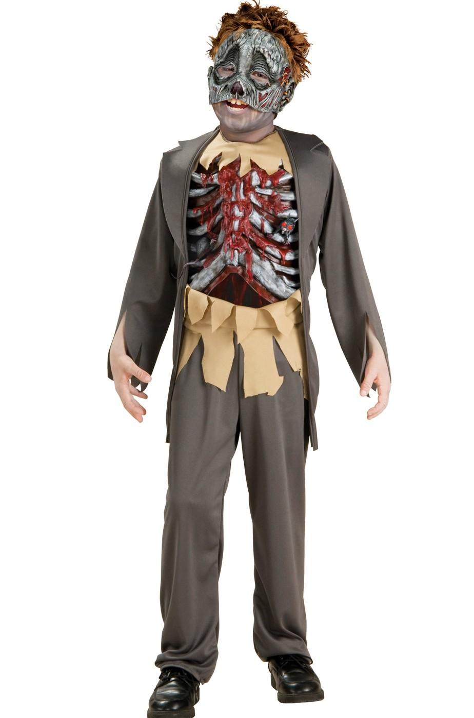 Zombie Cosplay Costume Bambino Scheletro Fancy Dress Halloween Carnevale