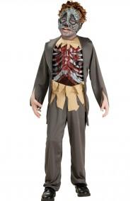 Costume bambino scheletro zombie