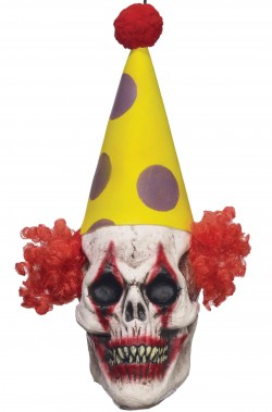Decorazione halloween testa clown horro da appendere