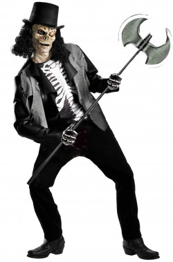Costume uomo scheletro zombie