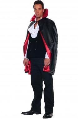 Mantello vampiro reversibile nero rosso