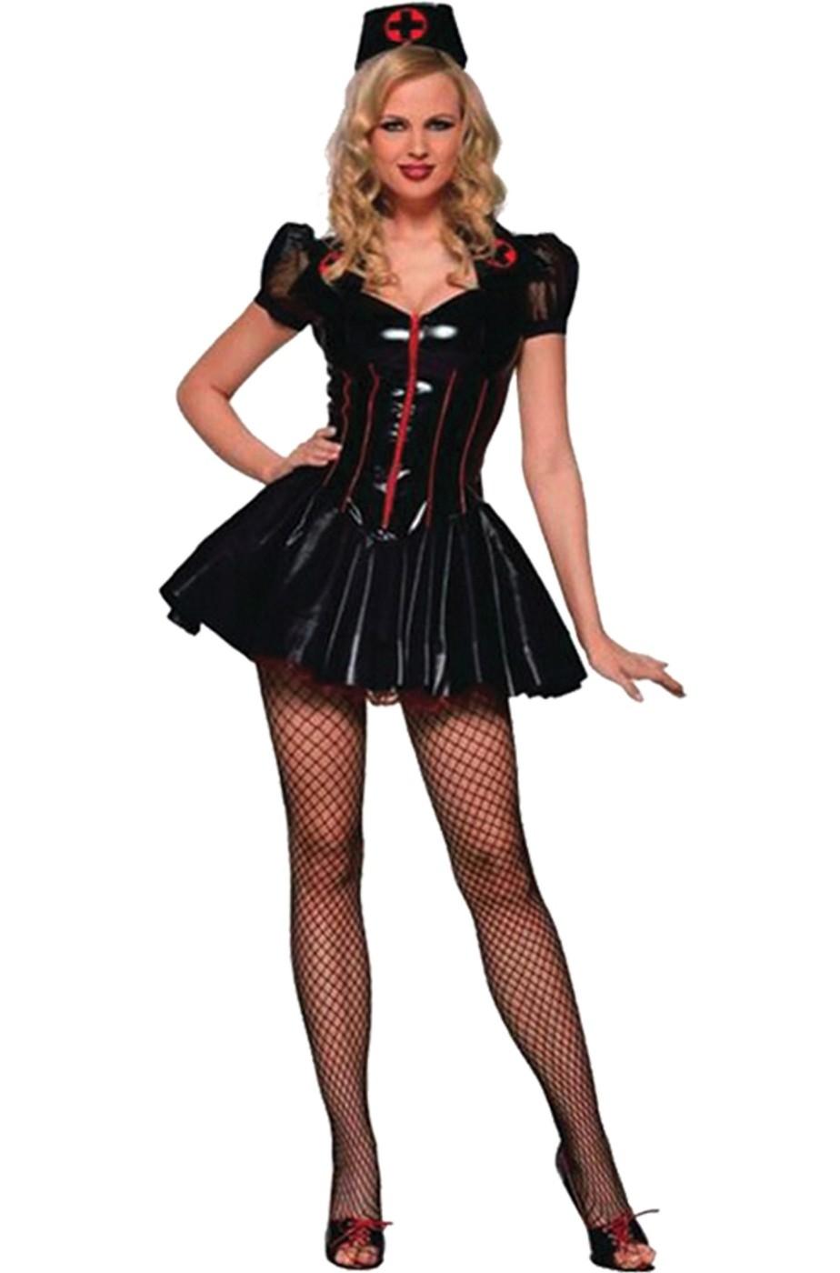 Halloween infermiera Parrucca Rosso sangue horror