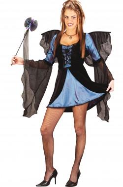 Costume da fata gotica azzurra e nera