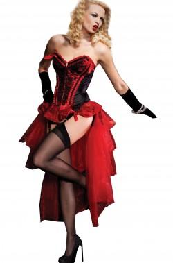 Gonna burlesque rossa adulta