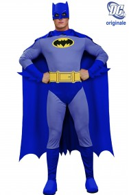 Costume Batman Grigio e blu Cartoon adulto