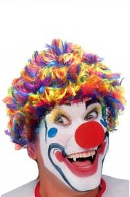 Clown Horror parrucca da clown mossa multicolore