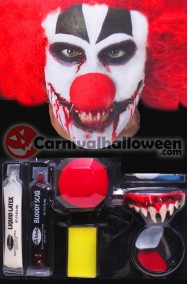 Kit trucco Hallowen Killer Clown Horror IT Pennywise