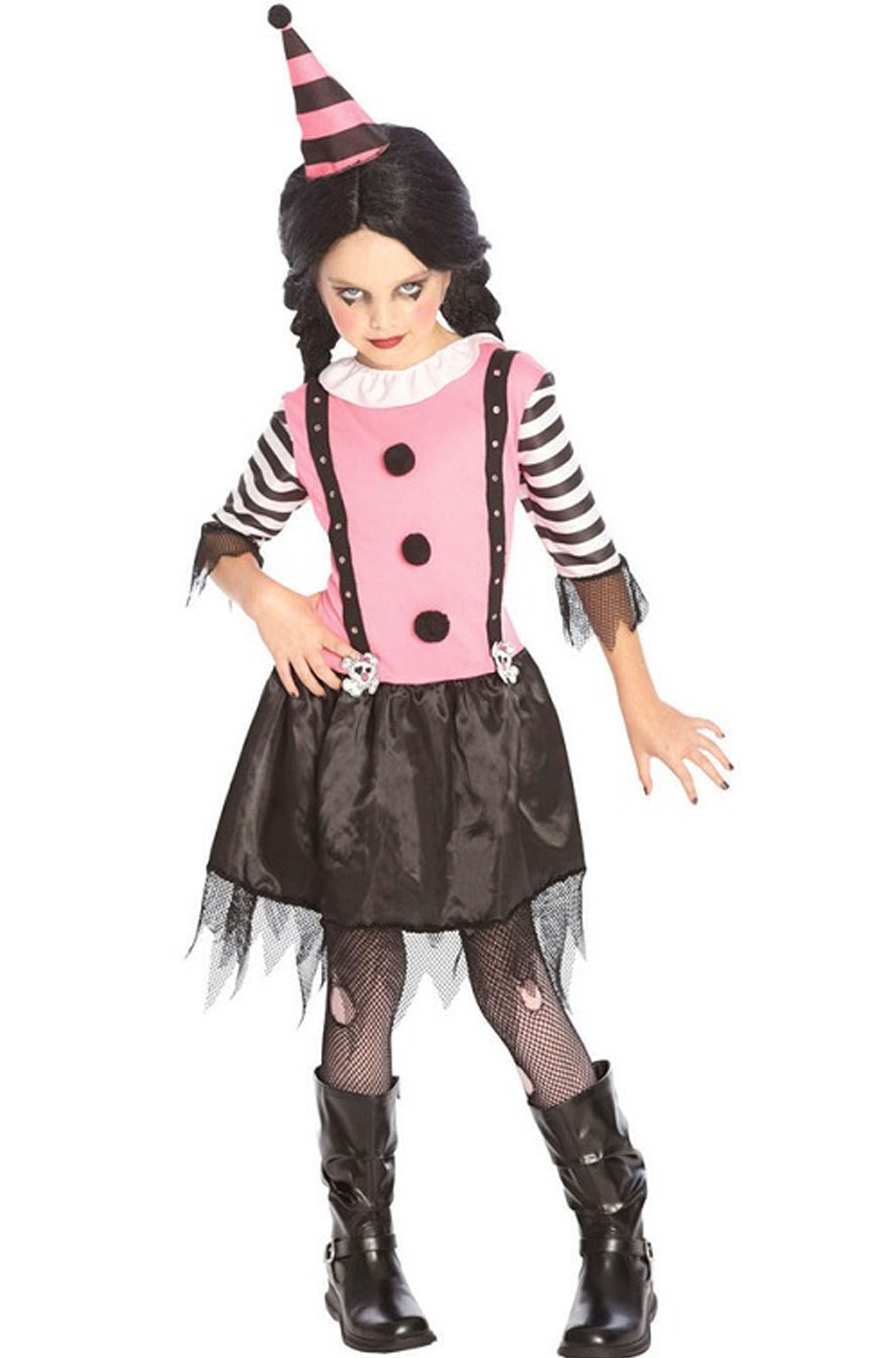 huge discount 60b91 c2931 Clown Horror Costume carnevale Bambina
