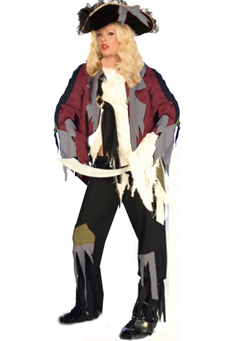 Costume pirata fantasma zombie donna