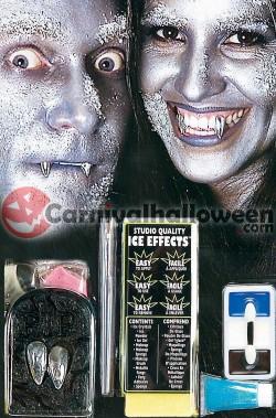 Set makeup trucco vampiro argento dei ghiacci