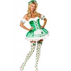 Costume donna sexy San Patrizio (celtico)