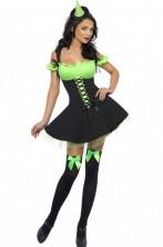 Costume donna strega Sexy, Elfa, Peter Pan Tirolese San Patrizio
