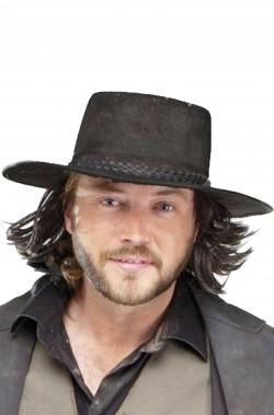 Cappello Cowboy Pistolero con capelli nero