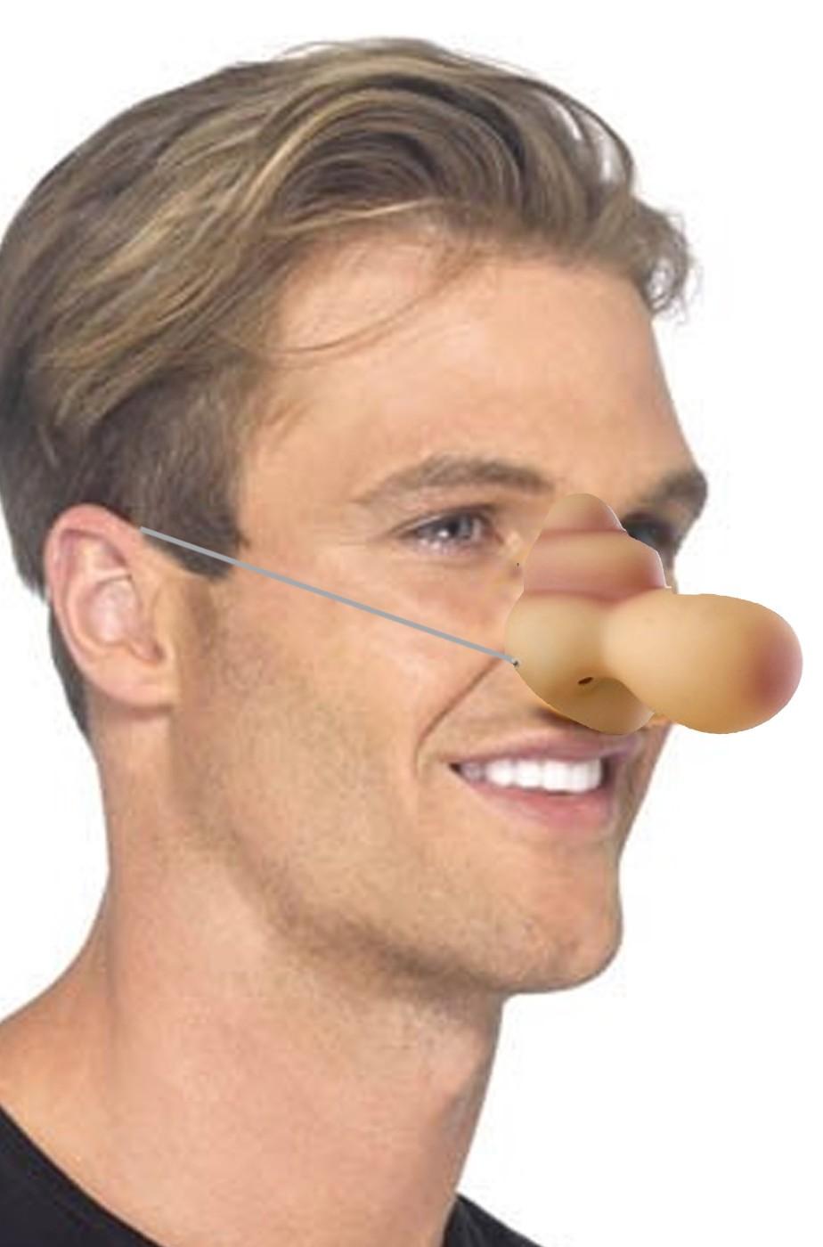 Naso finto cartone animato asterix e tutti i personaggi col nasone