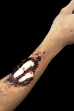 trucco frattura con osso in lattice per adulti