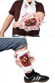 Ferita a squarcio sanguinante braccia gambe corpo